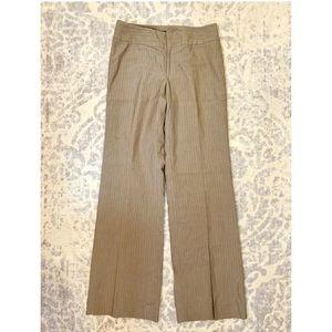 BANANA REPUBLIC Brown Pinstripe Dress Pants